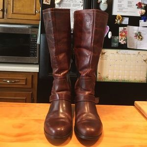 UGG Channing II  Leather Sheepskin Riding Boots